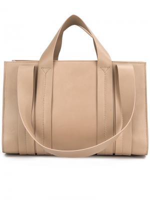 Средняя сумка-тоут Costanza Corto Moltedo. Цвет: телесный