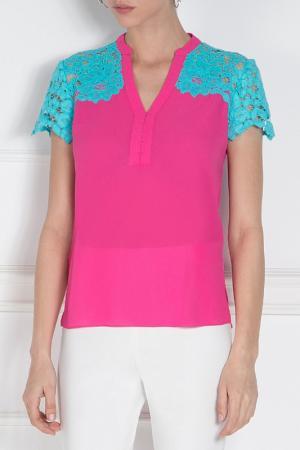 Блуза Nissa. Цвет: blue, fuchsia
