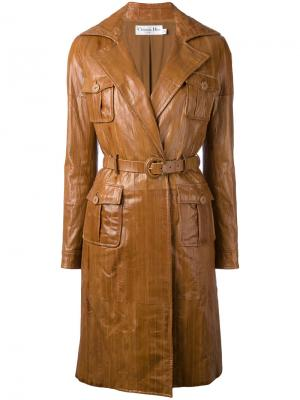 Panelled coat Christian Dior Vintage. Цвет: коричневый