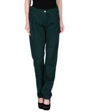 Повседневные брюки XANDRES. Цвет: темно-зеленый