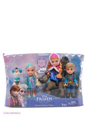 Игровой набор Холодное Сердце Принцессы Дисней  5 героев, 15 см. Disney Princess. Цвет: коричневый, голубой, фуксия