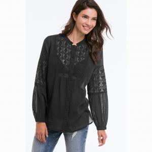 Блузка ELLOS. Цвет: черный
