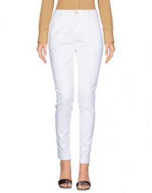 Повседневные брюки AGLINI. Цвет: белый