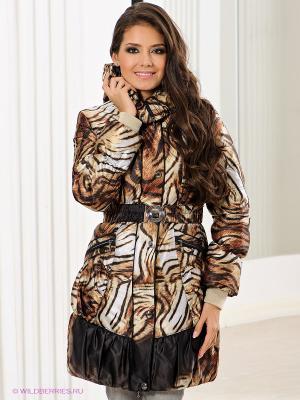 Пальто Alisa Line. Цвет: черный, темно-коричневый, светло-коричневый