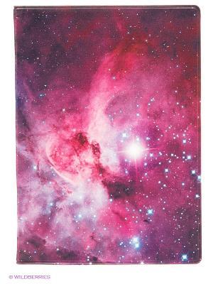 Обложка для паспорта Cosmic universe Kawaii Factory. Цвет: сиреневый