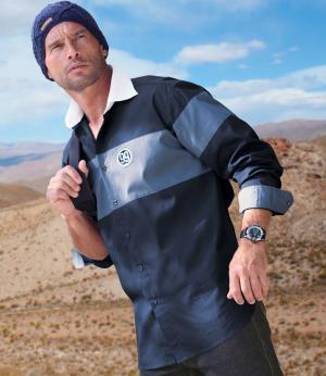 Рубашка «Экспедиция» AFM. Цвет: синии