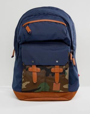 Nixon Рюкзак с камуфляжным принтом Canyon. Цвет: темно-синий