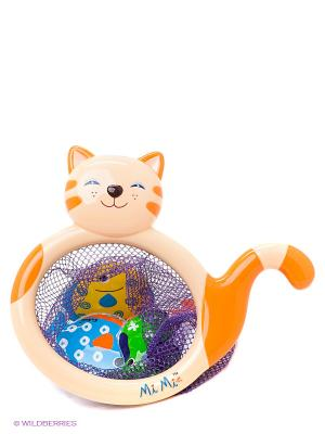 Игрушка для купания Кошка-сачок Мими K'S Kids. Цвет: оранжевый
