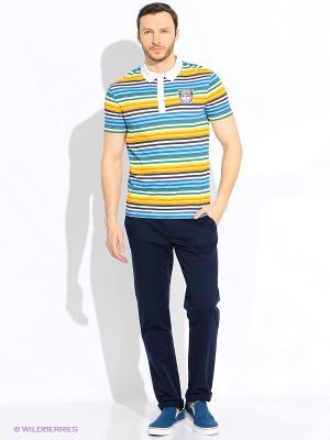 Поло Finn Flare. Цвет: голубой, желтый