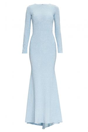 Трикотажное платье из вискозы 164347 Anna Dubovitskaya. Цвет: синий