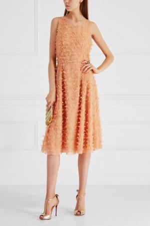 Однотонное платье Alexander Terekhov. Цвет: персиковый