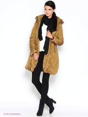 Пальто D`imma. Цвет: горчичный