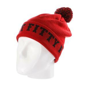 Шапка с помпоном  Ftfy Red Flat Fitty. Цвет: красный
