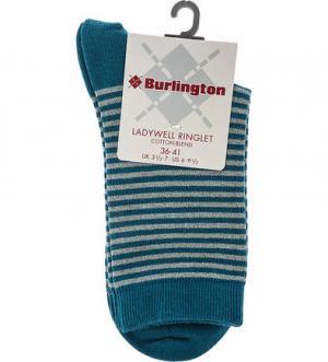 Бирюзовые носки в полоску Burlington. Цвет: полоска