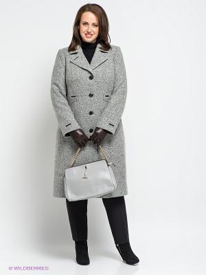 Пальто Klimini. Цвет: светло-серый