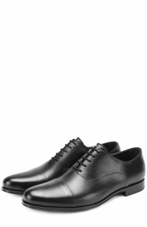 Классические кожаные оксфорды Aldo Brue. Цвет: черный