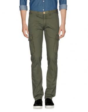 Повседневные брюки DOMENICO TAGLIENTE. Цвет: зеленый-милитари