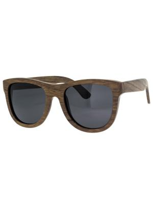 Очки TM0082-G-6-E WOOD TEHMODA. Цвет: темно-коричневый