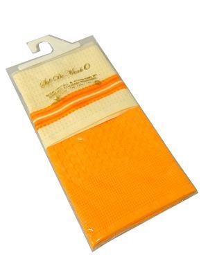Napoli  45x70 см 1х2 салфетки ваф. Sofi de Marko. Цвет: молочный, оранжевый