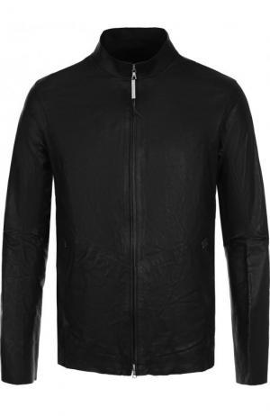 Кожаная куртка на молнии с воротником-стойкой Isaac Sellam. Цвет: черный
