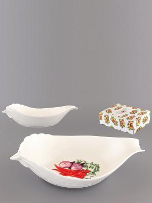 Салатник Острый перчик Elan Gallery. Цвет: белый, зеленый, фиолетовый, красный