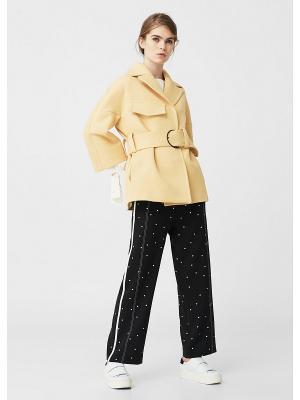 Пальто - MOSTA Mango. Цвет: горчичный