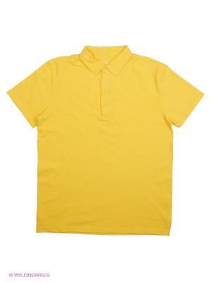 Футболка-поло Modis. Цвет: желтый
