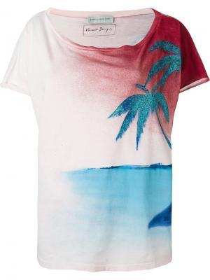 Укороченная футболка Faith Connexion. Цвет: многоцветный