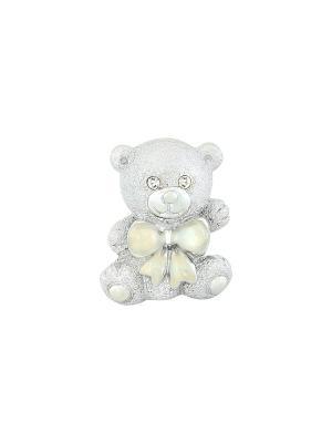 Фигурка декоративная Медвежонок Elan Gallery. Цвет: серебристый, белый