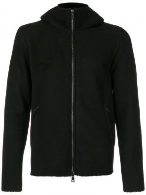 Куртка с капюшоном на молнии Giorgio Brato. Цвет: чёрный