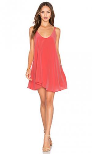 Платье harira Rory Beca. Цвет: коралл