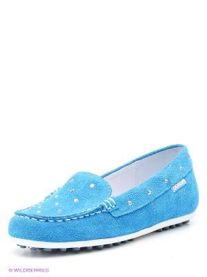 Мокасины ELEGAMI. Цвет: голубой