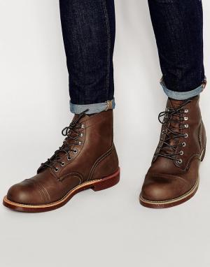 Red Wing Кожаные ботинки Iron Ranger. Цвет: коричневый