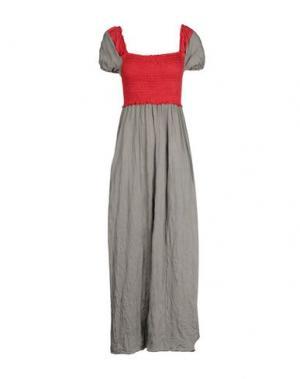 Длинное платье OBLIQUE CREATIONS. Цвет: красный