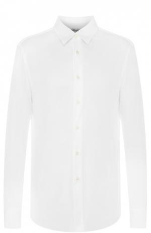 Хлопковая рубашка с воротником кент Brioni. Цвет: белый