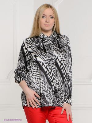 Блузка LE MONIQUE. Цвет: белый, черный