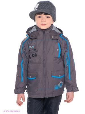 Куртка Hippo Hoppo. Цвет: серо-коричневый, терракотовый, бирюзовый