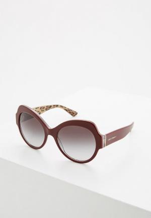 Очки солнцезащитные Dolce&Gabbana. Цвет: бордовый