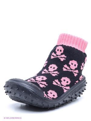 Пинетки SKIDDERS. Цвет: черный, розовый
