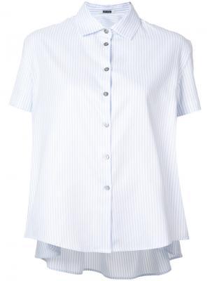 Блузка с вырезом и сборкой на спине Jourden. Цвет: синий
