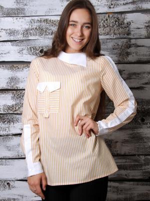 Рубашка OVALOVA. Цвет: желтый, белый