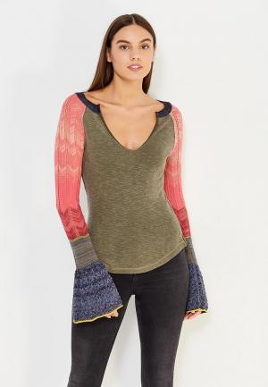 Пуловер Free People. Цвет: хаки