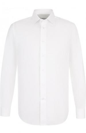 Хлопковая сорочка с воротником кент Brioni. Цвет: белый