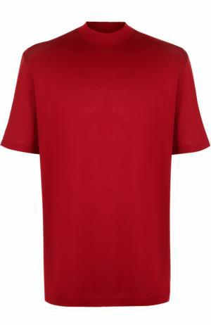 Хлопковая футболка с круглым вырезом Lanvin. Цвет: красный