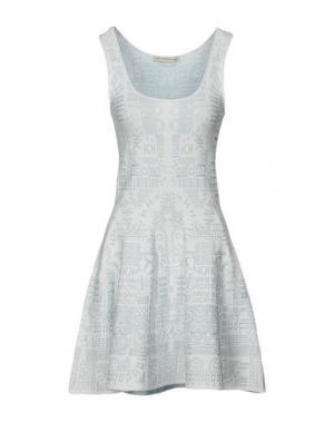 Короткое платье MARY KATRANTZOU. Цвет: небесно-голубой