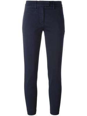 Укороченные брюки Dondup. Цвет: синий