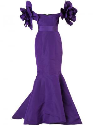 Вечернее платье Valentina Mermaid Bambah. Цвет: розовый и фиолетовый