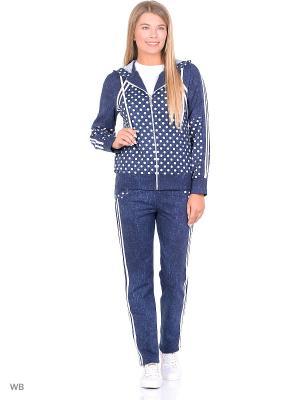 Костюм женский(джемпер, брюки) MARSOFINA. Цвет: синий, белый
