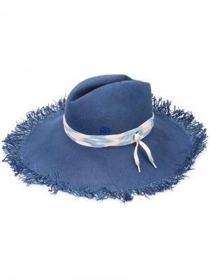 Fringed fedora Maison Michel. Цвет: синий