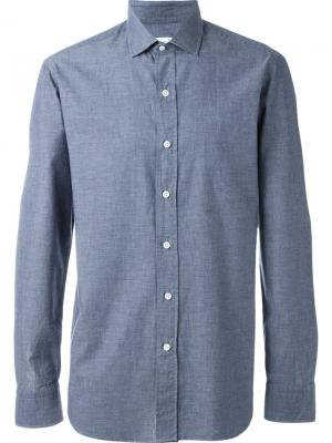 Классическая рубашка Salvatore Piccolo. Цвет: синий